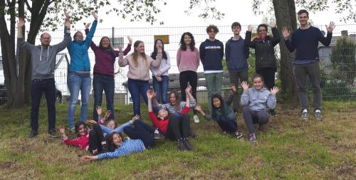 Die Teilnehmer an der Jugendfreizeit in Erbach.